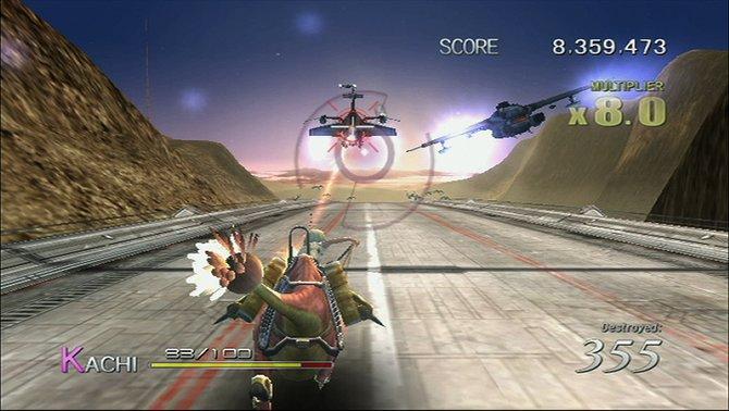 Die Waffe von Kachi verfügt über eine automatische Zielerfassung.