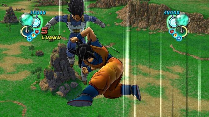 Typisch für Dragon Ball sind rasante Kämpfe - Das vermitteln auch Szenen aus dem Spiel.