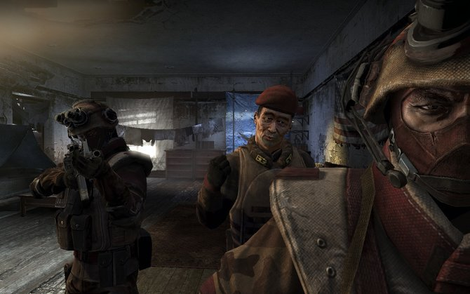 Zu Beginn des Spiels werden wir von Koreanern entführt.