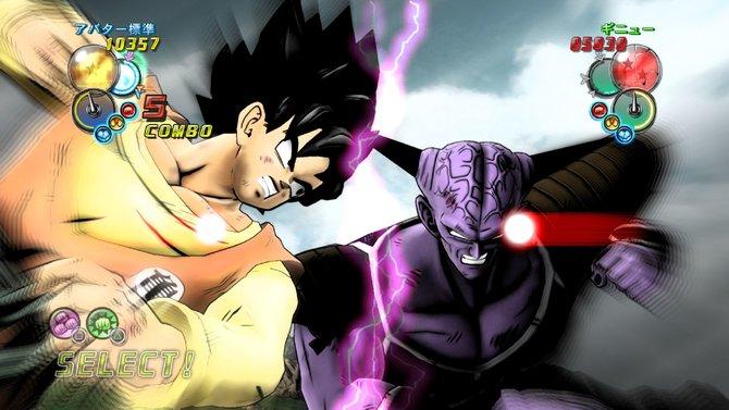 Unsere Son-Goku-Version im Kampf gegen Ginyu.