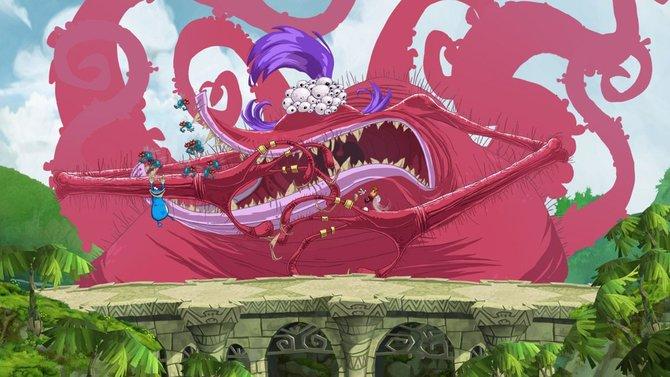 Bildfüllende Bosse stehen in Rayman - Origins auf der Tagesordnung.