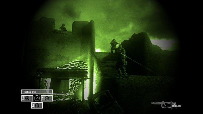Hier seht ihr den Blick durch ein Nachtsicht-Visier