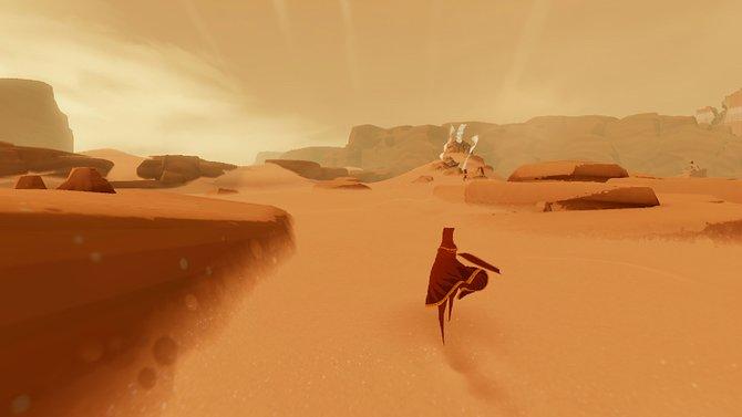 Ihr streift allein durch eine Wüste.