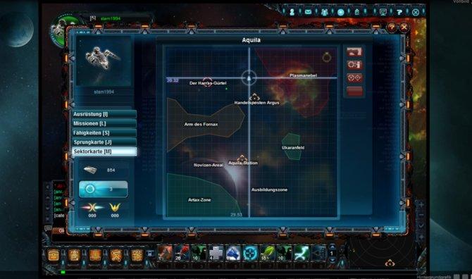 Die Sektorenkarte zeigt den Bereich Aquila detailliert.