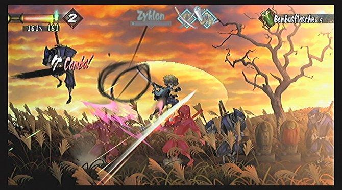 Mit unserem Schwert geben wir den Ninjas Saures...