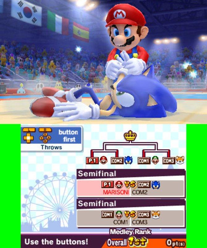 Mario & Sonic - London 2012: Mario scheint beim Judo klar die Oberhand zu haben.