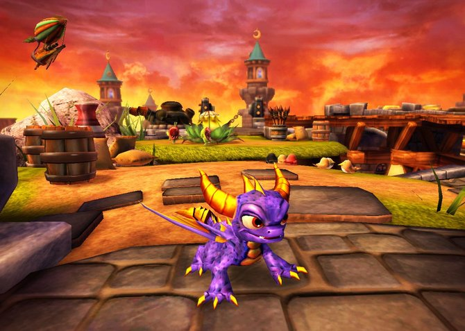 Platzhirsch: Spyro zeigt, wer der Herr im Haus ist.