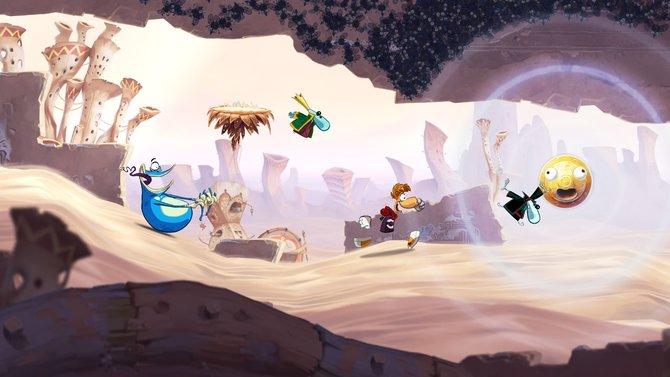 In Rayman Origins hüpft ihr mit Rayman durch völlig unterschiedliche Welten.