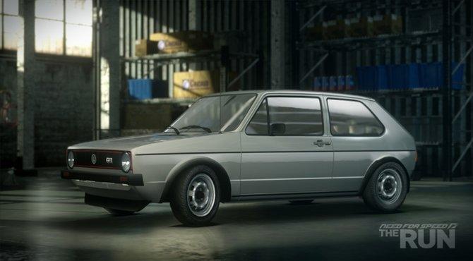 Hier seht ihr den Golf GTI...
