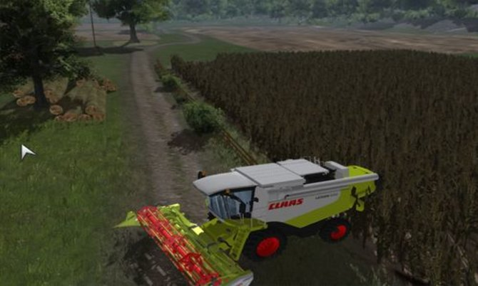Agrar Simulator 2011: Mit einem Mähdrescher und Mähwerk geht es dem Getreide an den Kragen.
