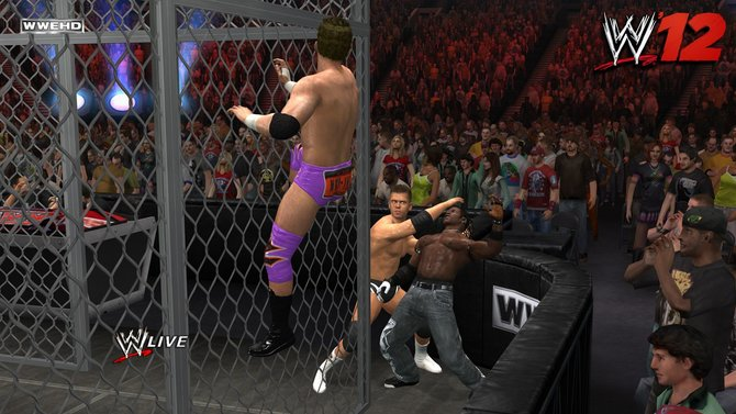Kämpfe mit mehr als zwei Kontrahenten sind beim Wrestling oft gesehen.