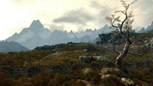 Die Landschaft in Skyrim lädt zu ausgedehnten Streifzügen ein.