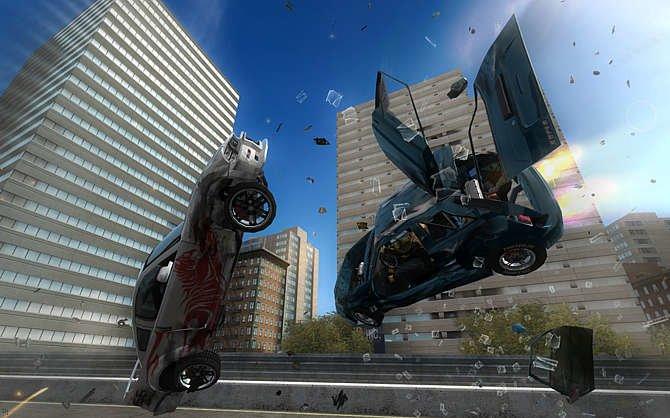 Spektakuläre Unfälle sind ein wichtiges Feature von FlatOut ...