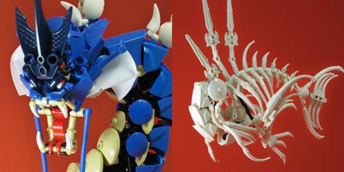 Beide Modelle bestehen aus handelsüblichen LEGO-Teilen.