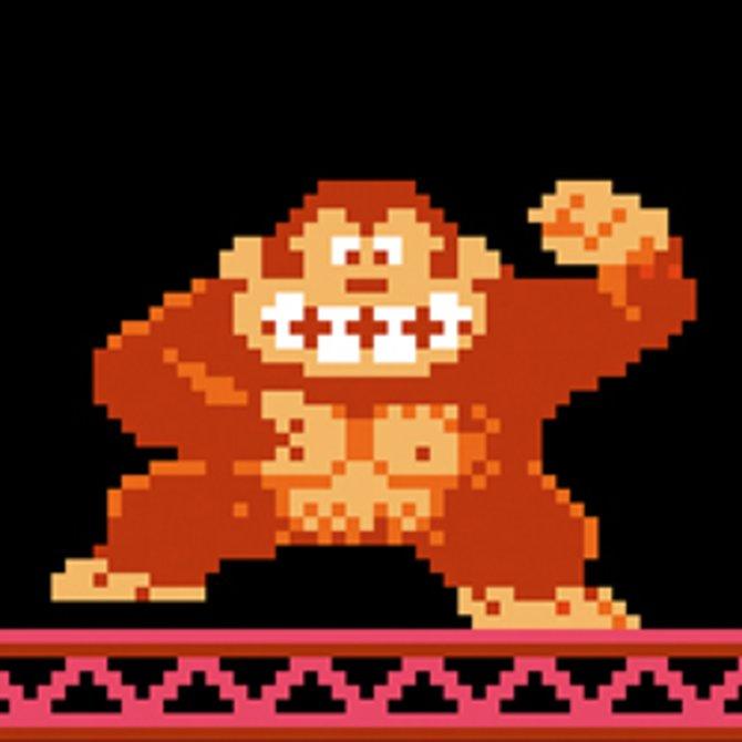 Donkey Kong als streitsüchtiger Rabauke 1981, als ...