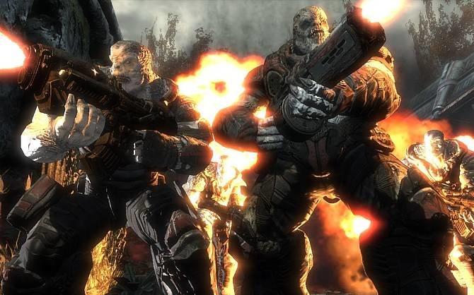Neben vielen Multiplattformtiteln kommen auch einige Exklusivtitel. Gears of War ...