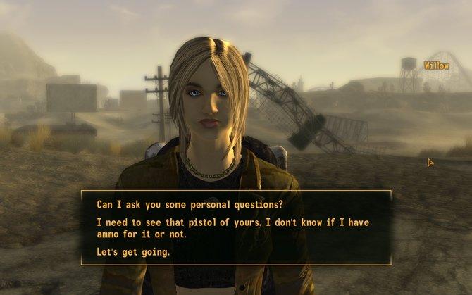 Die hübsche Willow wurde ausgeraubt. In einem ersten Dialog (Bild links) erfahrt ihr die Vorgeschichte. Wer die Dame ...