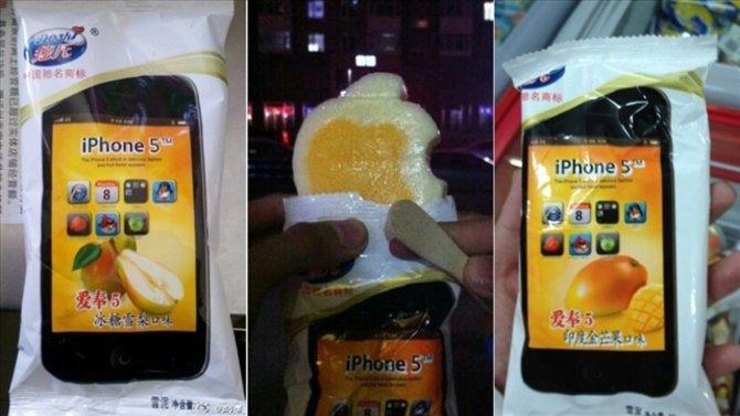 Das iPhone 5 Eis gibt es mit Mango- und Birnengeschmack.