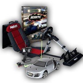 Der heutige Hauptpreis besteht aus einem ferngesteuerten Revell-Auto, einem Rennspielsitz von BigBen und dem Rennspiel Ignite.