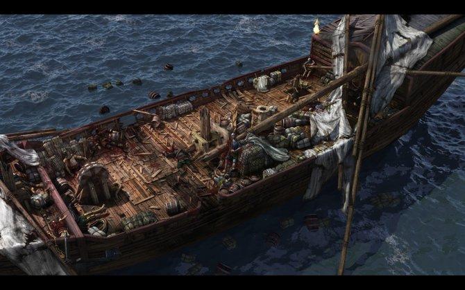 Eure abenteuerliche Reise führt euch an viele Schauplätze: Mal findet ihr euch auf einem halb zerstörten Korsarenschiff wieder (links), dann steht ...