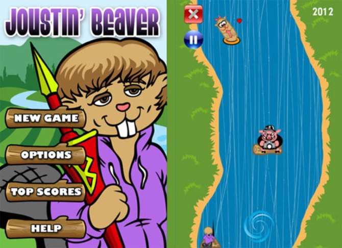 So sieht das Bieber-Spiel aus