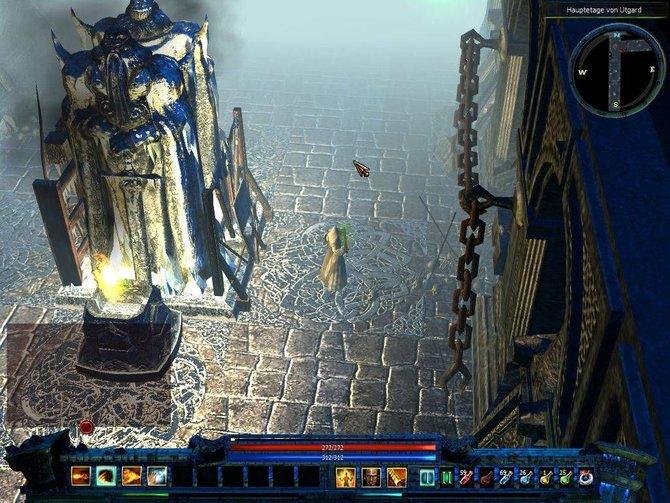 Loki - Im Bannkreis der Götter wartet mit hübschen Effekten auf. Schaut euch mal den glänzenden Boden an.