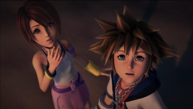 Sora und Kairi im Intro von Kingdom Hearts Final Mix. Das Spiel ist bislang nur in Japan erschienen.