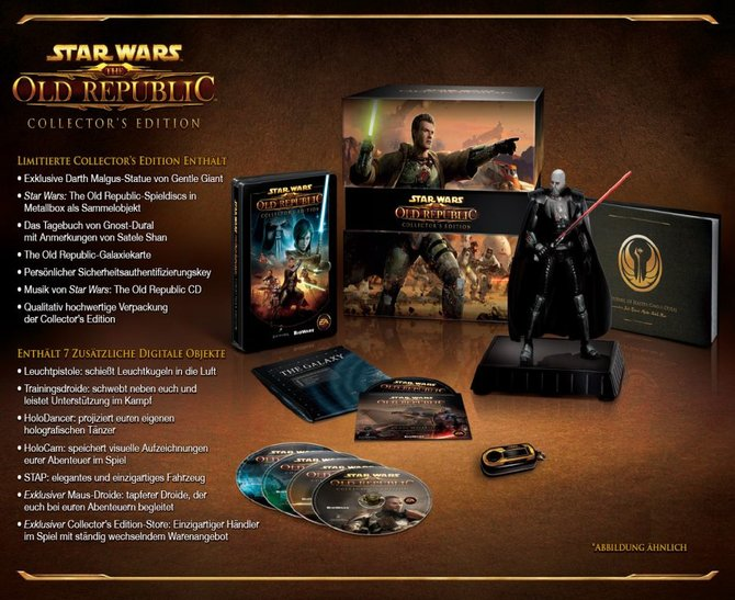 Die riesige Verpackung der 'Old Republic'-Sammler-Edition umhüllt u.a. eine ...