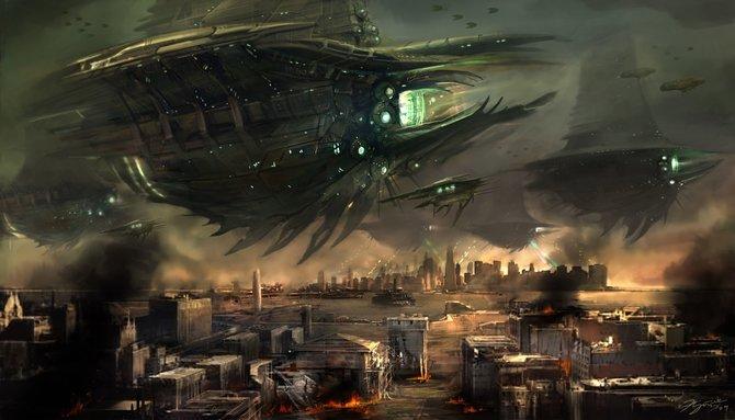 Resistance - Burning Skies dreht sich um die Invasion der amerikanischen Ostküste durch die außerirdischen Chimera (Illustration).