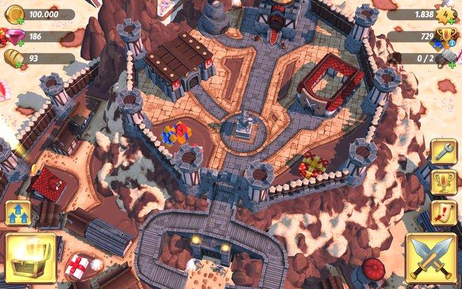In Royal Revolt 2 errichtet ihr eure eigene Festung samt Dörfchen.