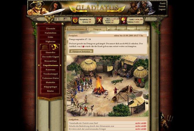 Die textbasierten Inhalte von Gladiatus überzeugen. Die langen Wartezeiten ...