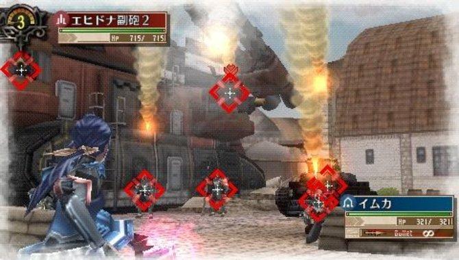 Ihr wählt im Aktions-Modus eure Feinde an (1). Attackiert mit ...