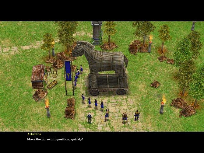 Age of Mythology ist der erste Teil mit 3D-Grafik. So, wirkt das trojanische Pferd (Bild ...