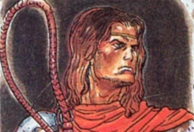Illustrationen für Castlevania 3 - Dracula's Curse zeigen Trevor noch recht einfach und altbacken.