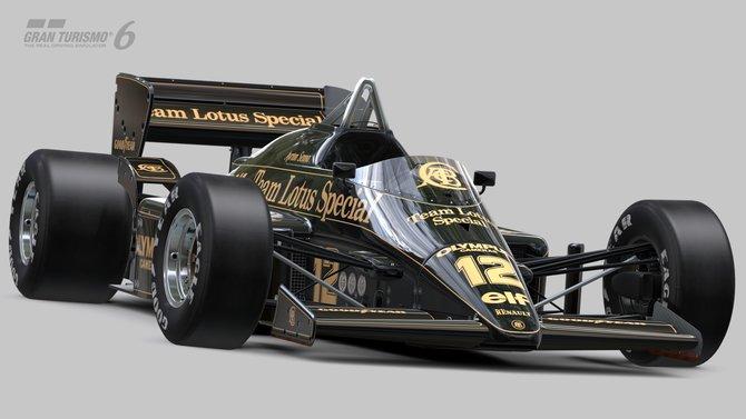 Der Lotus 97T in dem Ayrton Senna als unter anderem in Monza saß.