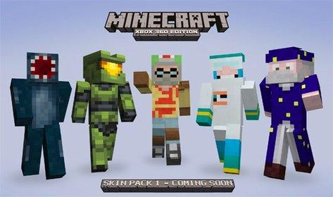 Das neue Skin Paket für Minecraft 360 bringt unter anderem den Master Chief.