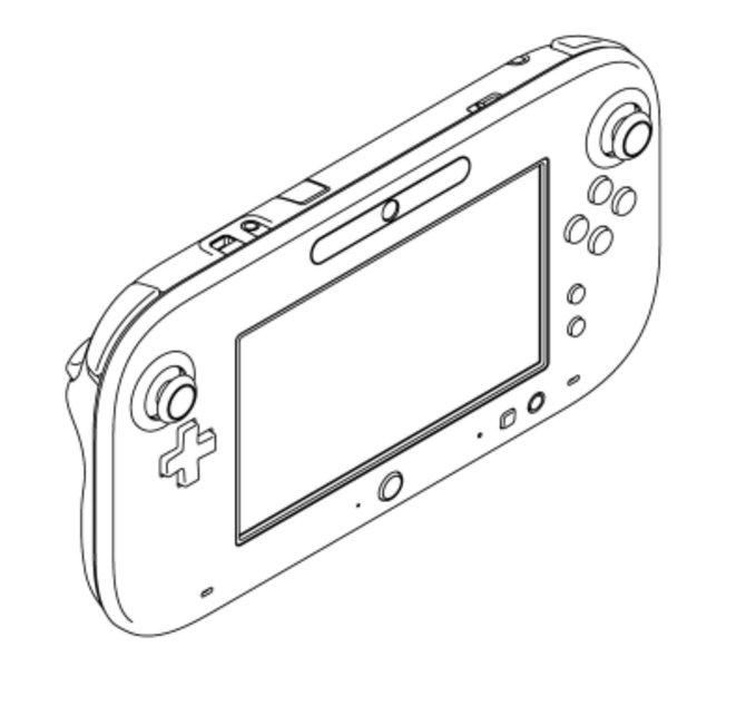 Das aktuelle Design des Wii-U-Controllers ...