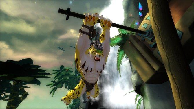 Ocelotl ist sehr wendig und klettert gerne.