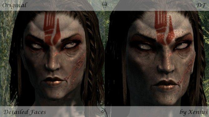 """Die Modifikation """"Detailed Faces V2"""" lässt die Gesicher im Spiel noch realistischer aussehen."""
