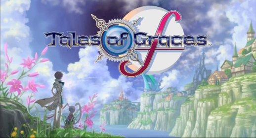 Der Titelbildschirm von Tales of Graces F macht neugierig und wartet mit schöner Musik auf.