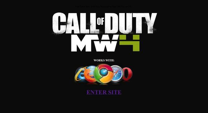 Diese Webseite gaukelt euch vor, Informationen zu Call of Duty - Modern Warfare 4 zu besitzen.