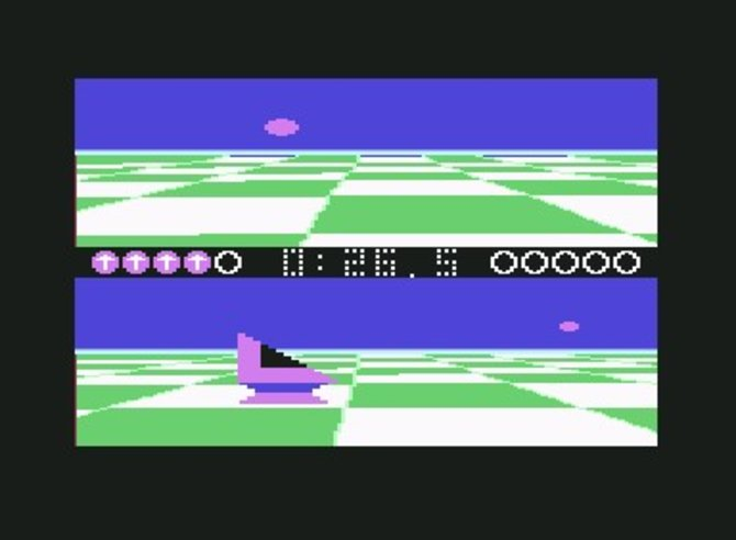 Das erste Spiel von Lucas Arts ist weder ein Adventure noch ein Spiel zu Star Wars, sondern das futuristische Sportspiel Ballblazer (1984).