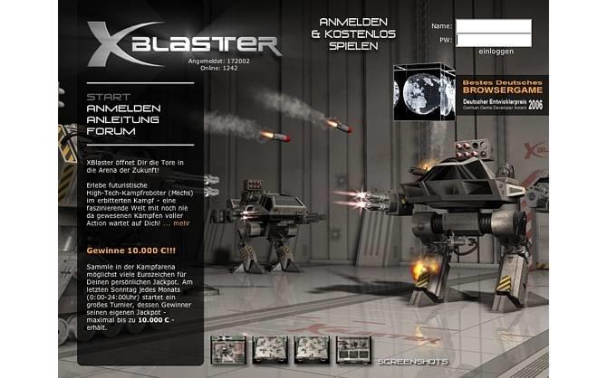 Die ganze Webseite von XBlaster macht einen aufgeräumten, sehr ...