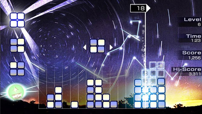 In Lumines: Electronic Symphony paart sich Tetris mit Elektromusik.