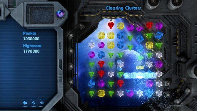 """3Switched bietet die sechs Spiel-Modi """"Clearing Clusters"""", """"Snazzy Swap"""", """"Falling Stars"""", """"Pathfinder"""", """"Moving4-ward"""" und """"Gravity Switch"""". """"Clearing Clusters"""" ist der Standard-Modus, in dem ihr ..."""
