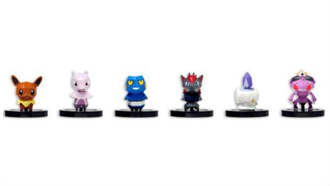 So sieht das zweite Set der Figuren für Pokémon Rumble U aus.