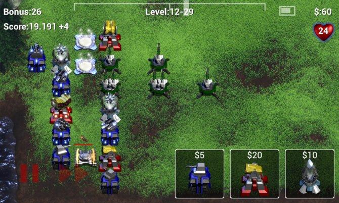 Robo Defense bietet klassisches Tower-Defense-Gameplay: Ihr verteidigt eure Basis, indem ihr strategisch Türme setzt.