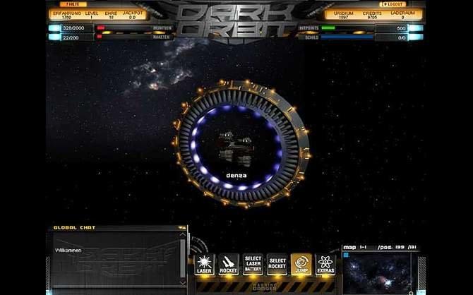 Dark Orbit präsentiert nicht nur einfach einen dunklen Weltraum. Wann immer es ...