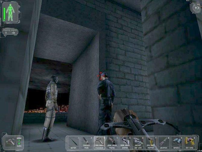 Die Spielmechanik von Dishonored erinnert entfernt an Deus Ex (links) und Dark Project (Mitte). Für dieses auch unter dem ...