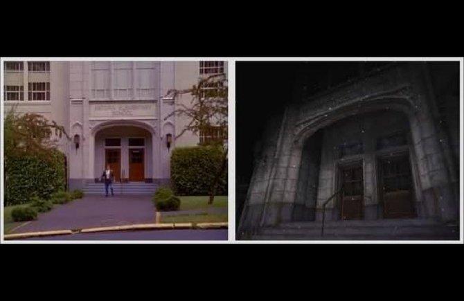 """Die Midwich Elementary School aus Silent Hill entstammt offensichtlich in Grundzügen aus dem Film """"Der Kindergarten Cop""""."""